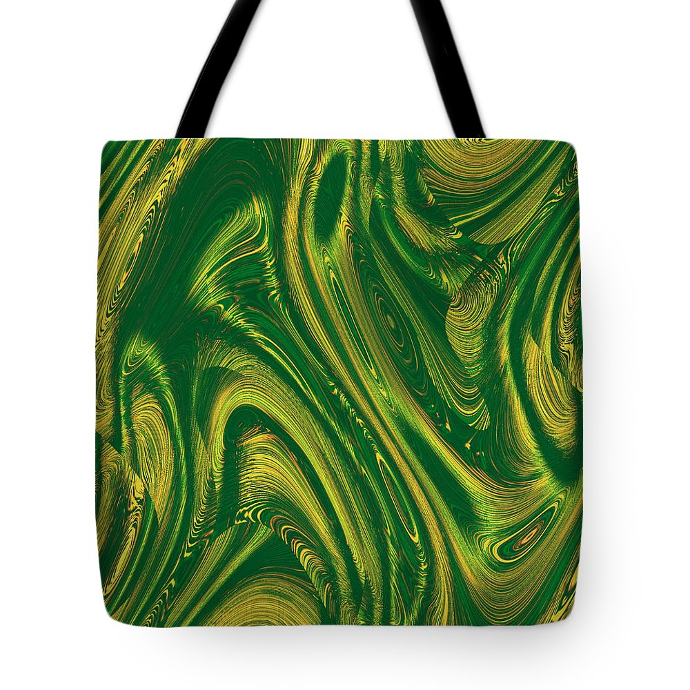 Moveonart! Digital Gallery Tote Bag featuring the digital art MoveOnArt Opportunity WithIn Chaos by Jacob Kanduch