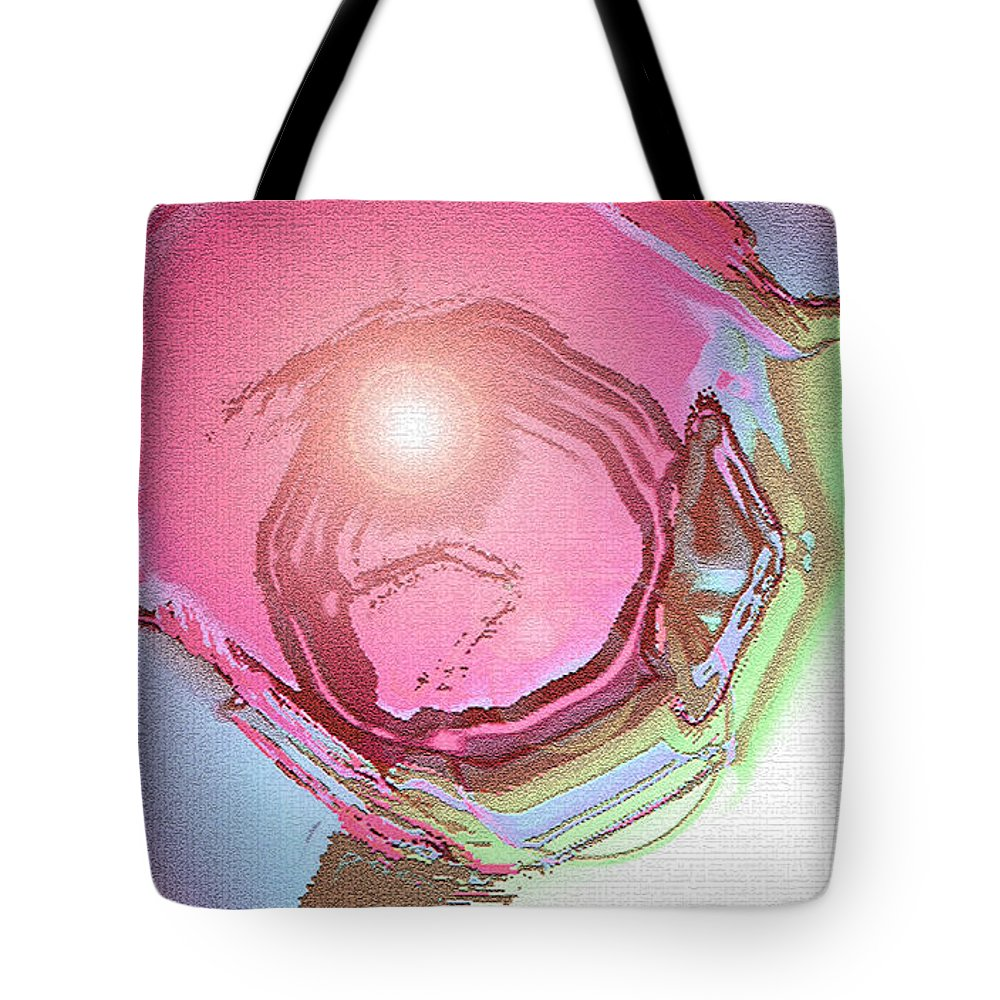 Moveonart! Digital Gallery Tote Bag featuring the digital art MoveOnArt Renewing Mind Clear Thought Therapy  Red by Jacob Kanduch