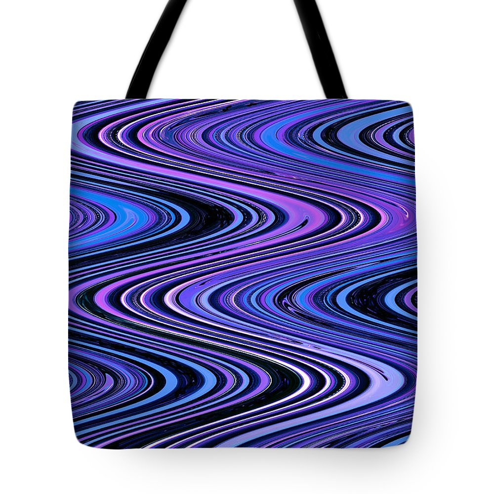 Moveonart! Digital Gallery Tote Bag featuring the digital art Moveonart Waves In Peaceful Movement by Jacob Kanduch