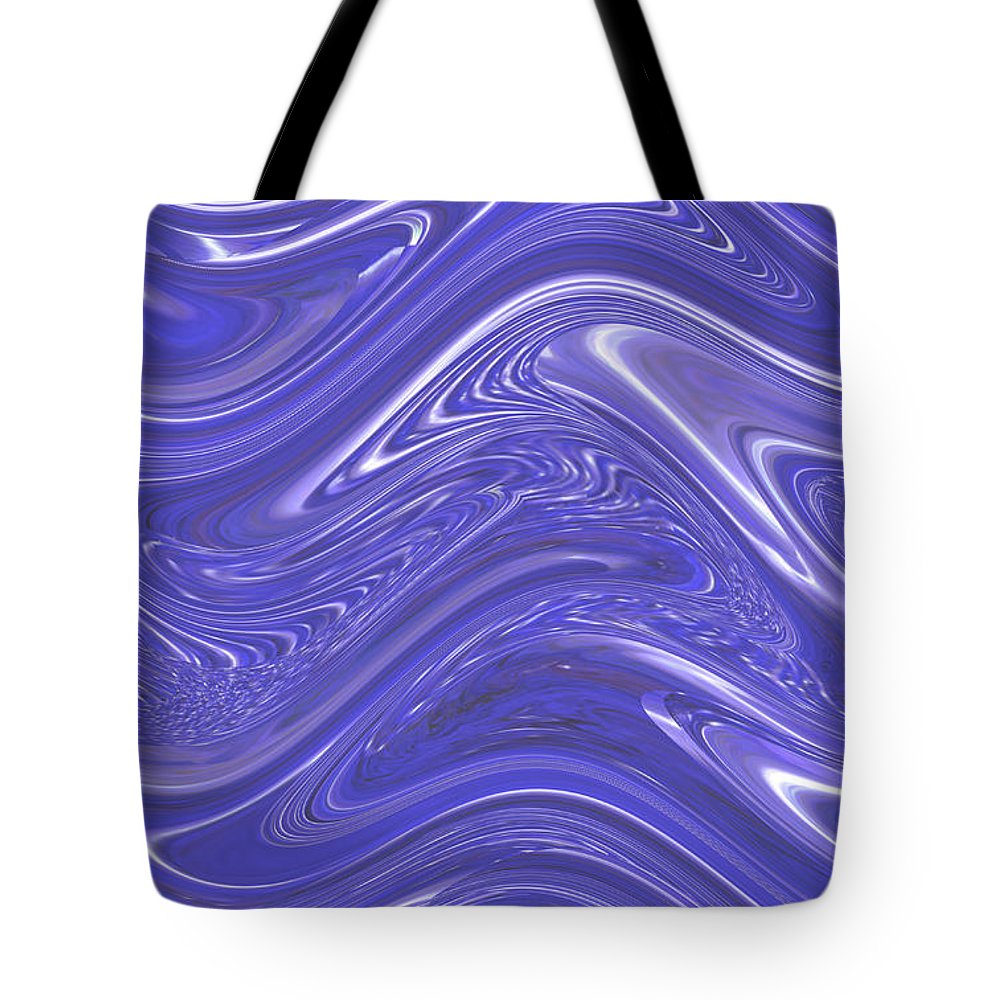 Moveonart! Digital Gallery Tote Bag featuring the digital art MoveOnArt Waves Of Blue For You 1 by Jacob Kanduch