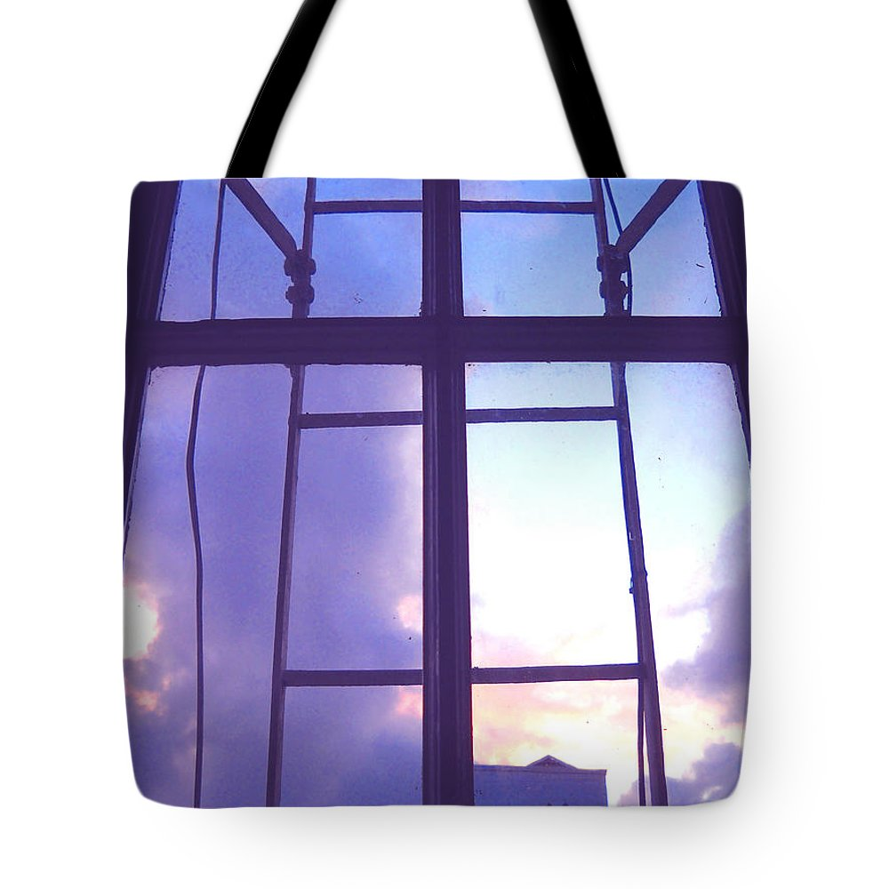 Moveonart Digital Gallery San Francisco California Lower Nob Hill Jacob Kane Kanduch Tote Bag featuring the digital art Moveonart Window Watching Series 5 by Jacob Kanduch