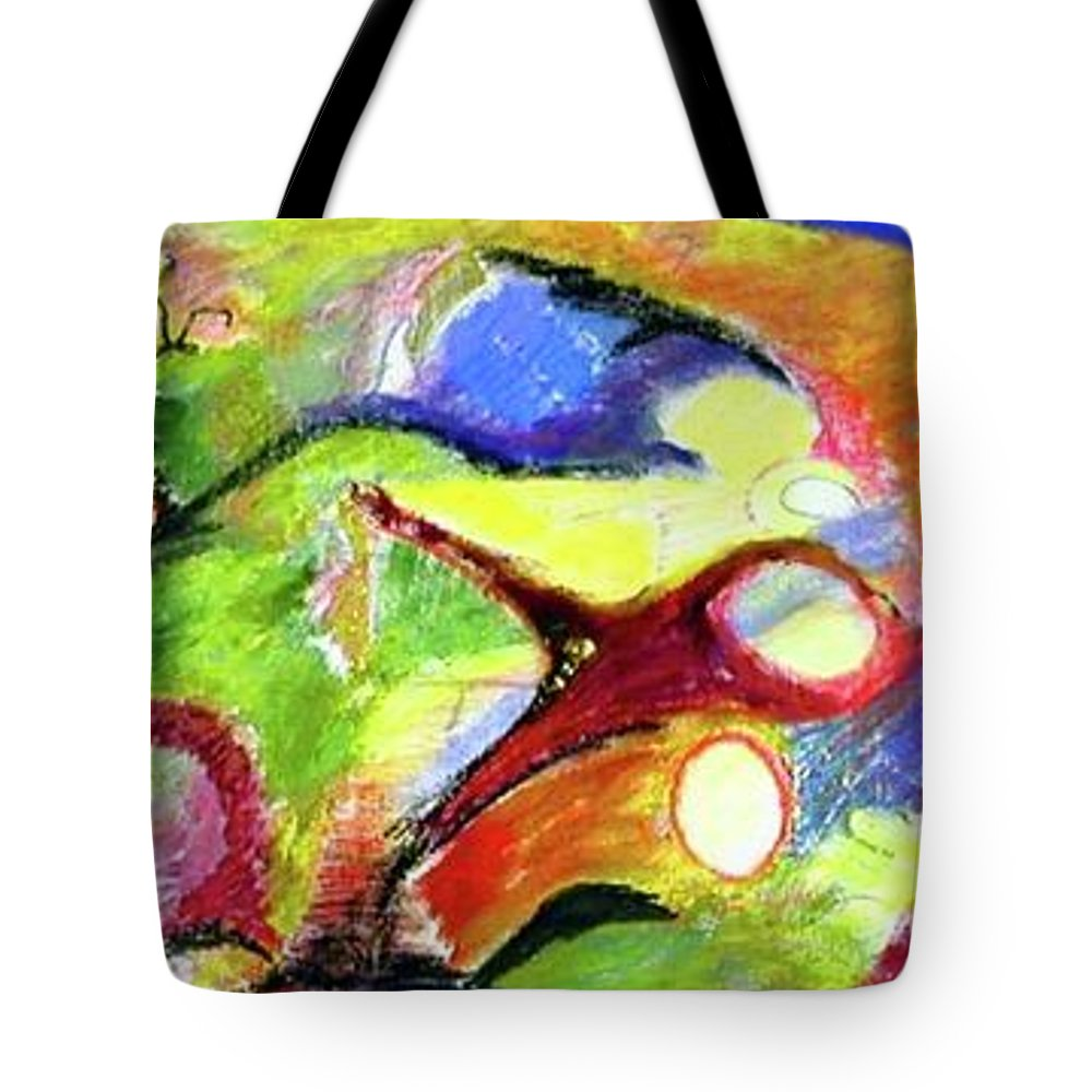 Tote Bag featuring the painting Moving Through Life by Robert Gravelin