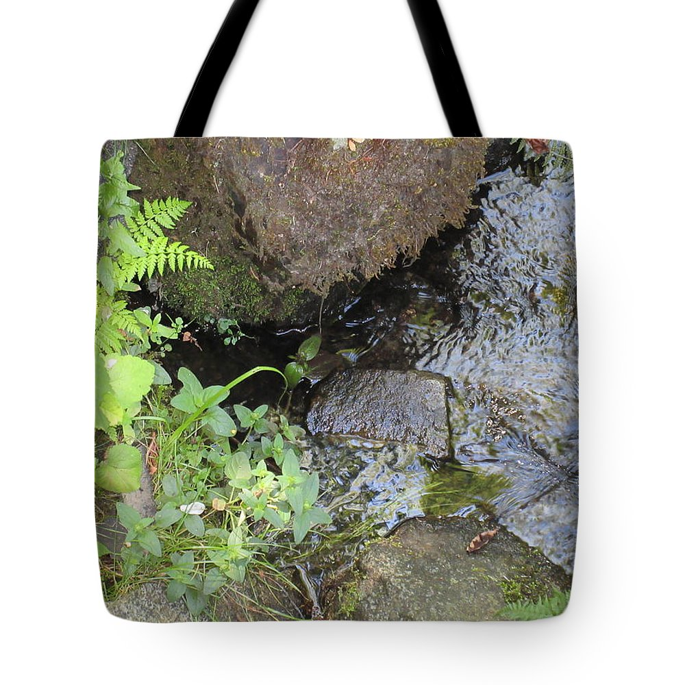 Water Tote Bag featuring the photograph Moving Water by Emily Boltinghouse