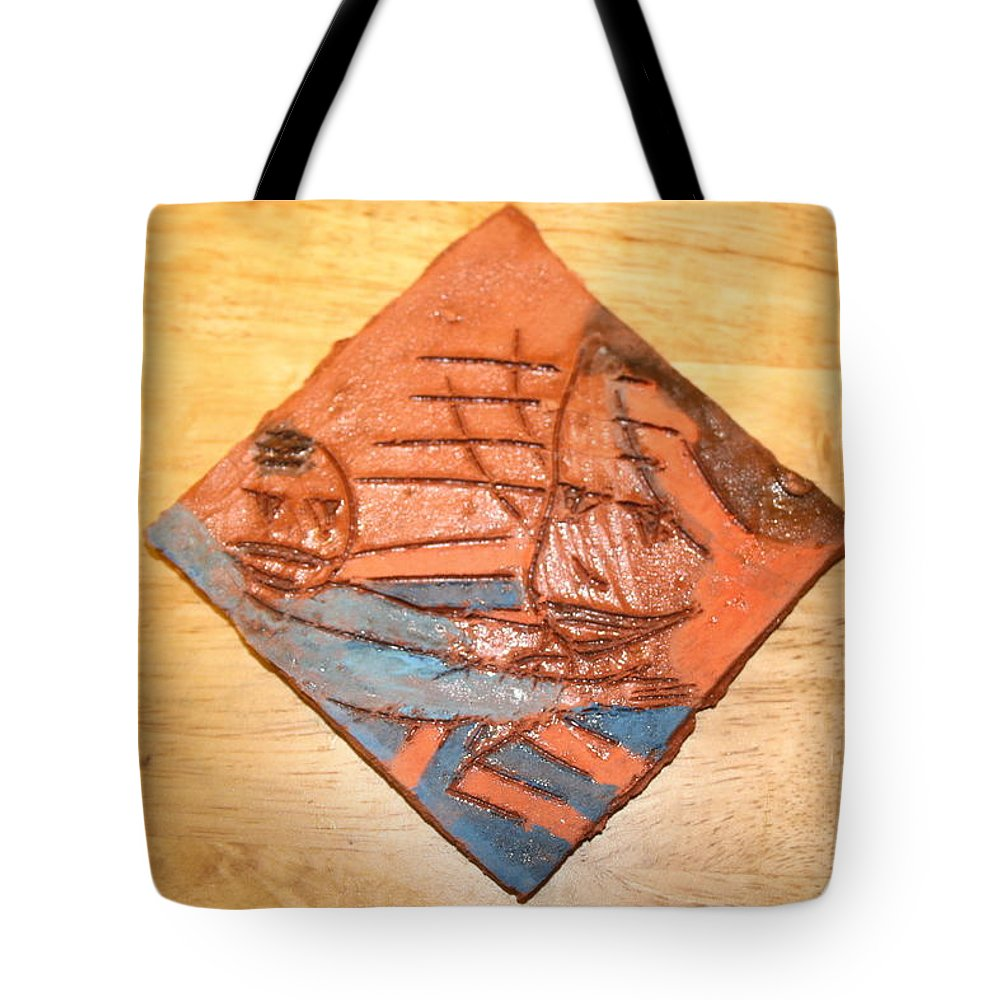 Jesus Tote Bag featuring the ceramic art Mpeeka - Tile by Gloria Ssali