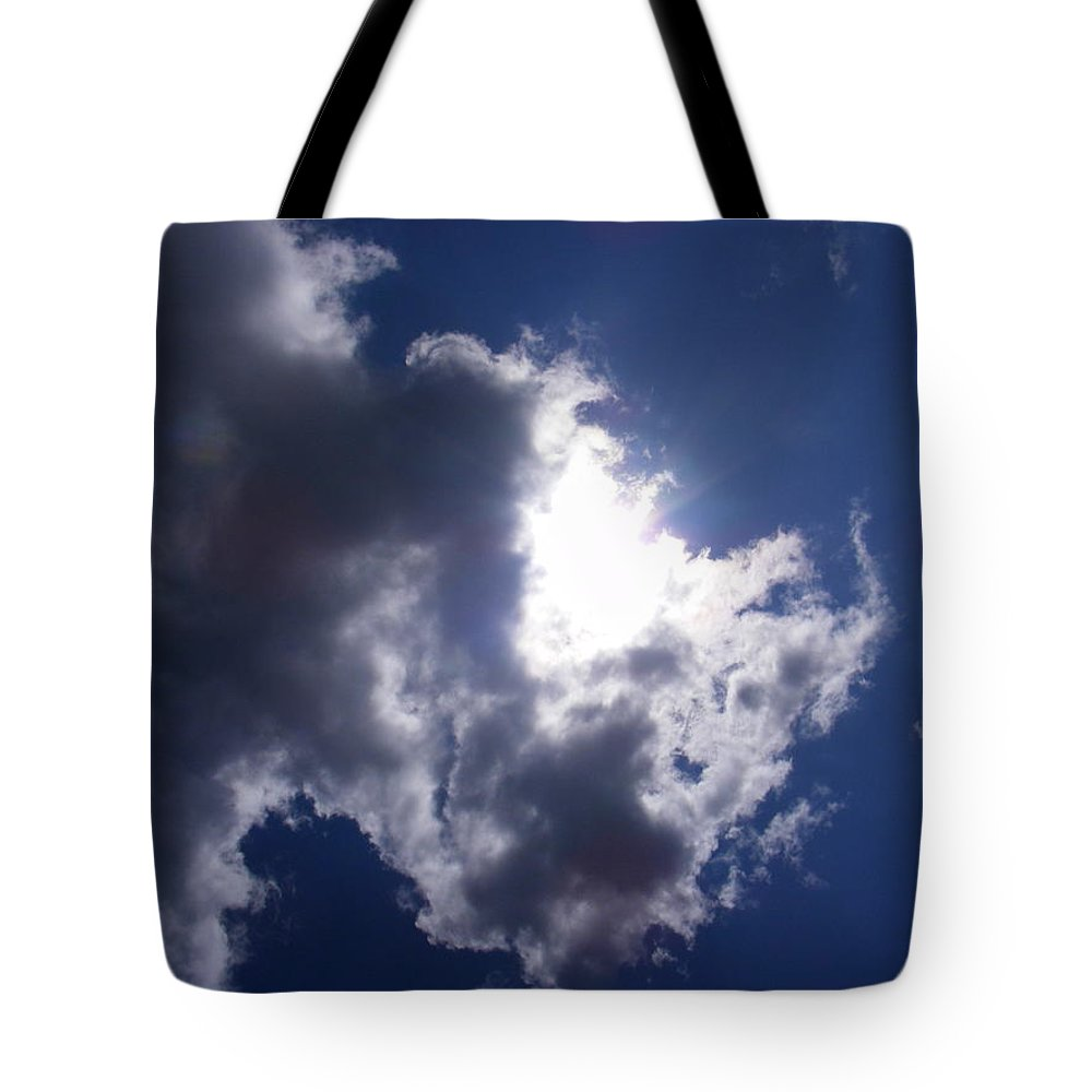 Mr Blue Sky Tote Bag featuring the photograph Mr Blue Sky by Ed Smith