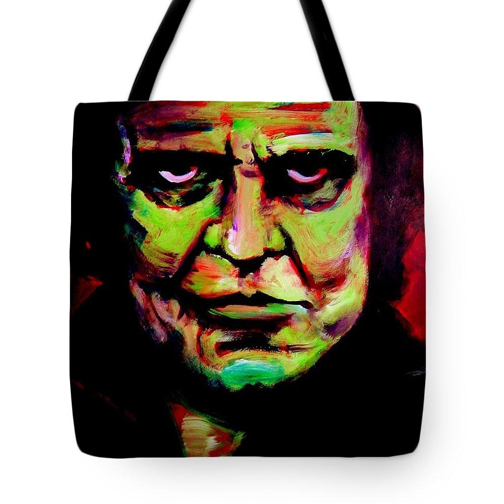 Portrait Tote Bag featuring the painting Mr. Cash by Jason Reinhardt