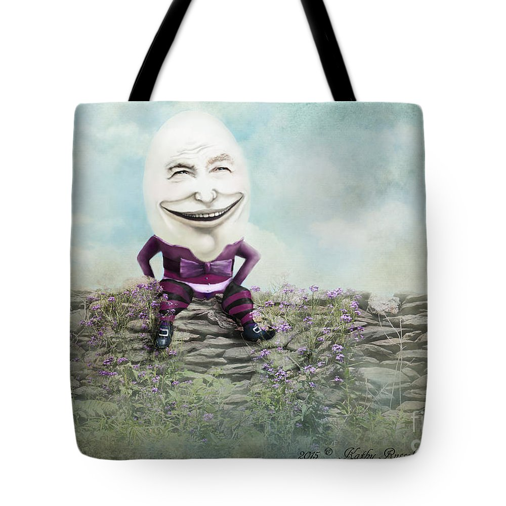 Faery Tale Tote Bag featuring the digital art Mr. Egg Head by Kathy Russell