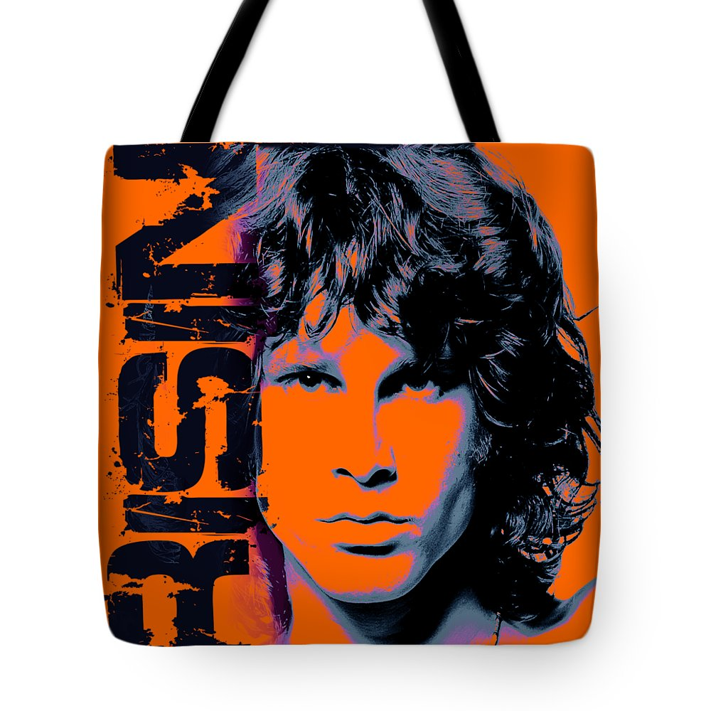 The Doors Tote Bag featuring the digital art Mr Mojo Risin by Mal Bray