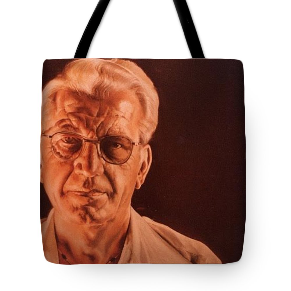 Michael Gish Tote Bag featuring the painting Mr. Redo by Michael Gish