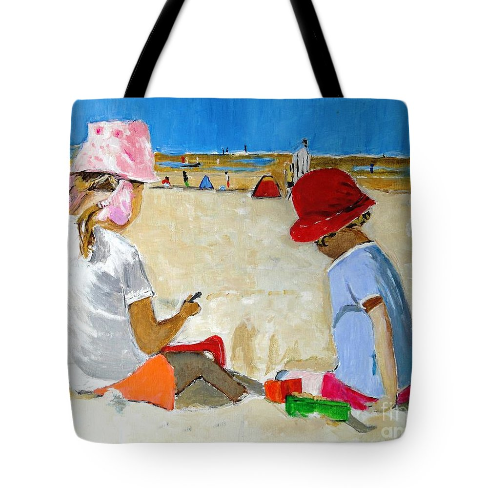 Sand Tote Bag featuring the painting Mr. Sandman by Judy Kay