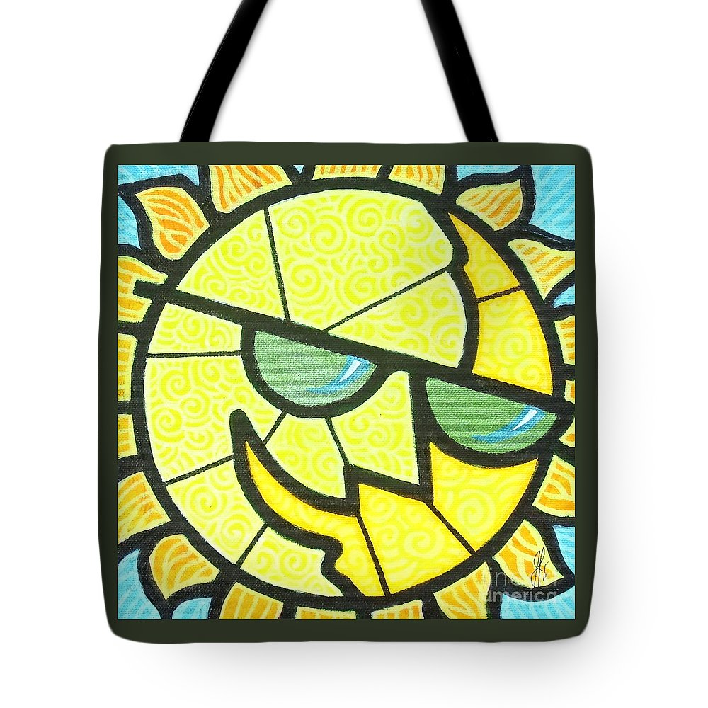 Sunshine Tote Bag featuring the painting Mr Sunny Day by Jim Harris