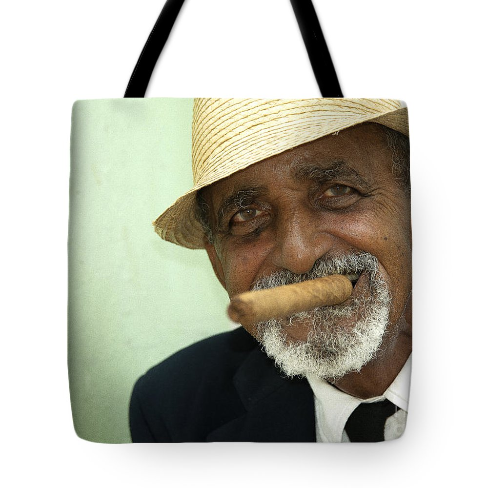 Cuba Tote Bag featuring the photograph Mr Trinidad by Rob Hawkins
