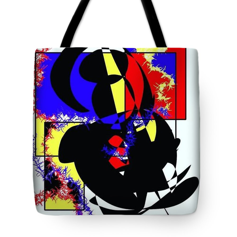 Tote Bag featuring the digital art Mr Who? by Yilmar Henry