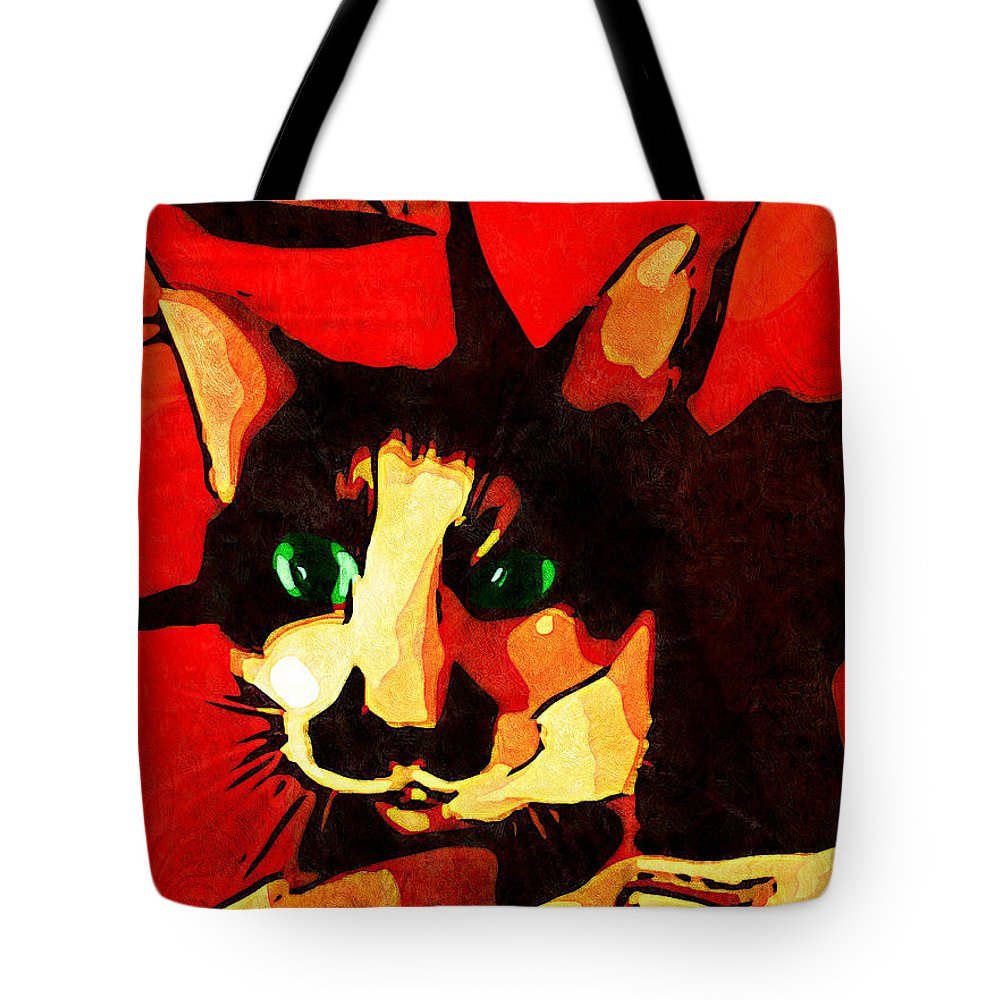 Portrait Tote Bag featuring the photograph Mr. Wiggins by Iowan Stone-Flowers