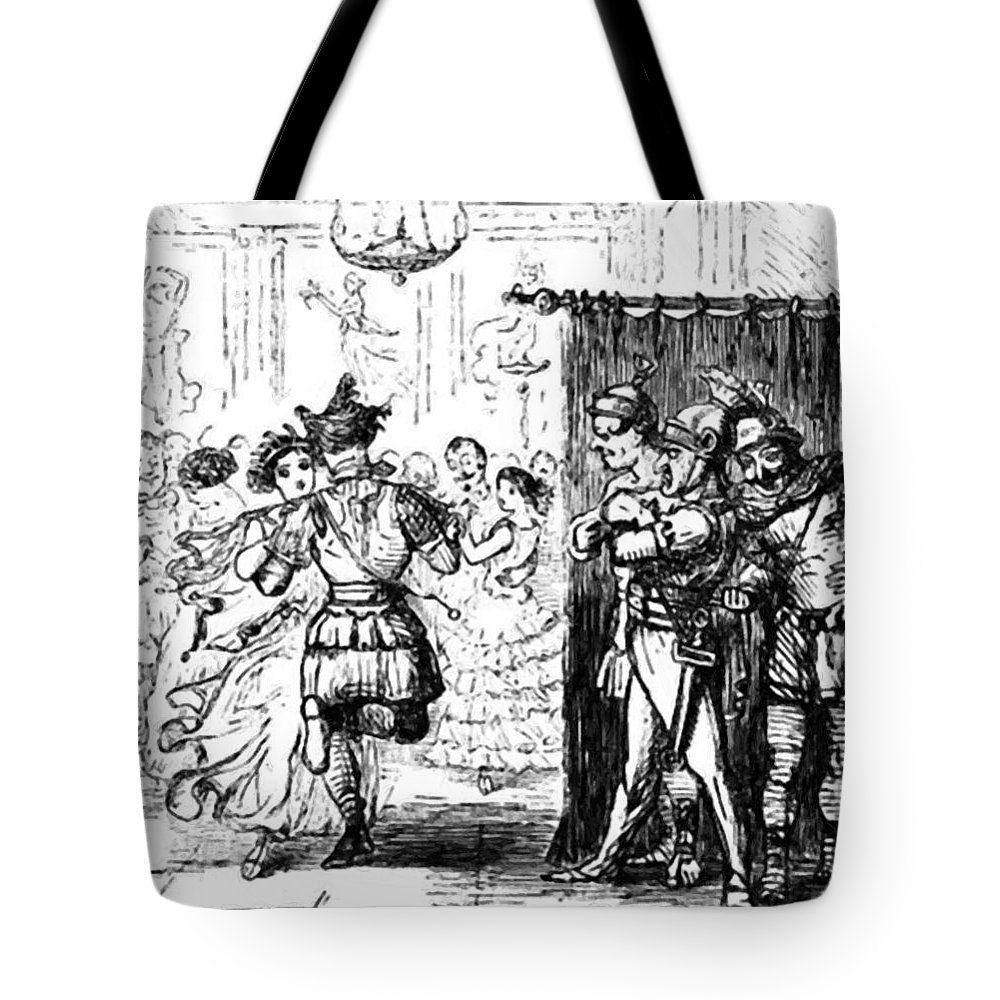 Mrs Tote Bag featuring the painting Mrs Sextus Consoles Herself With A Little Party by Leech John