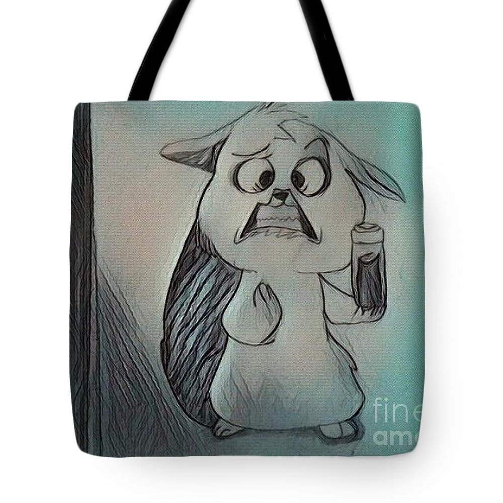 Squirrel Tote Bag featuring the digital art Mrs by Zana Sucic