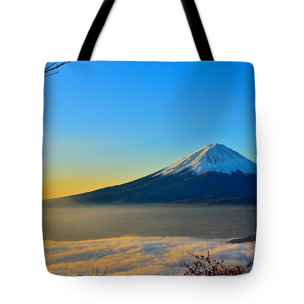 Tote Bag featuring the photograph Mt. Fugi by Anthony May