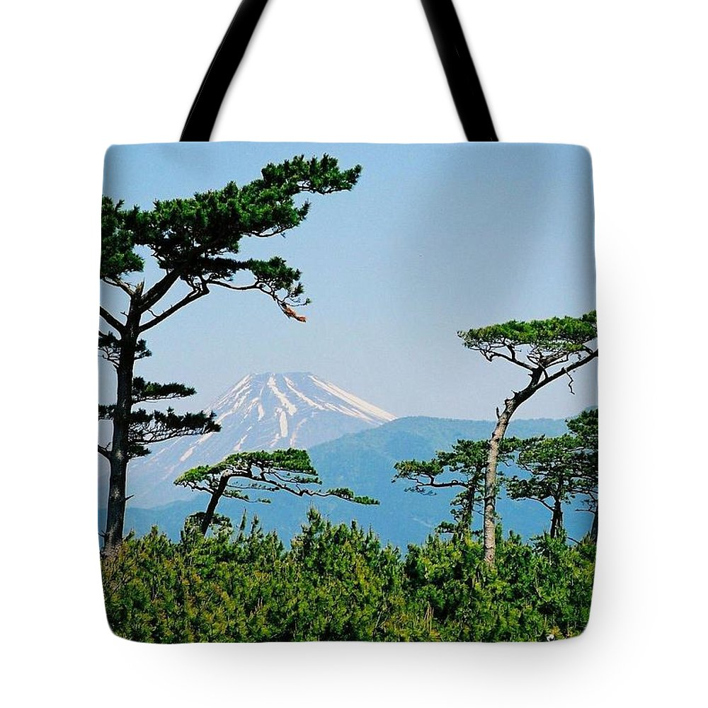Asia Tote Bag featuring the photograph Mt. Fuji ... by Juergen Weiss