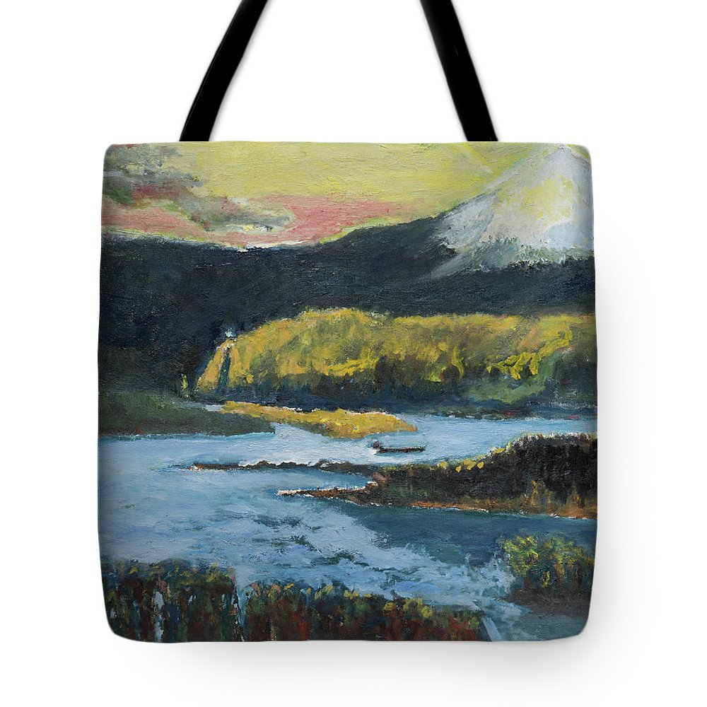 Mt Hood Tote Bag featuring the painting Mt Hood Dazzle by Craig Newland