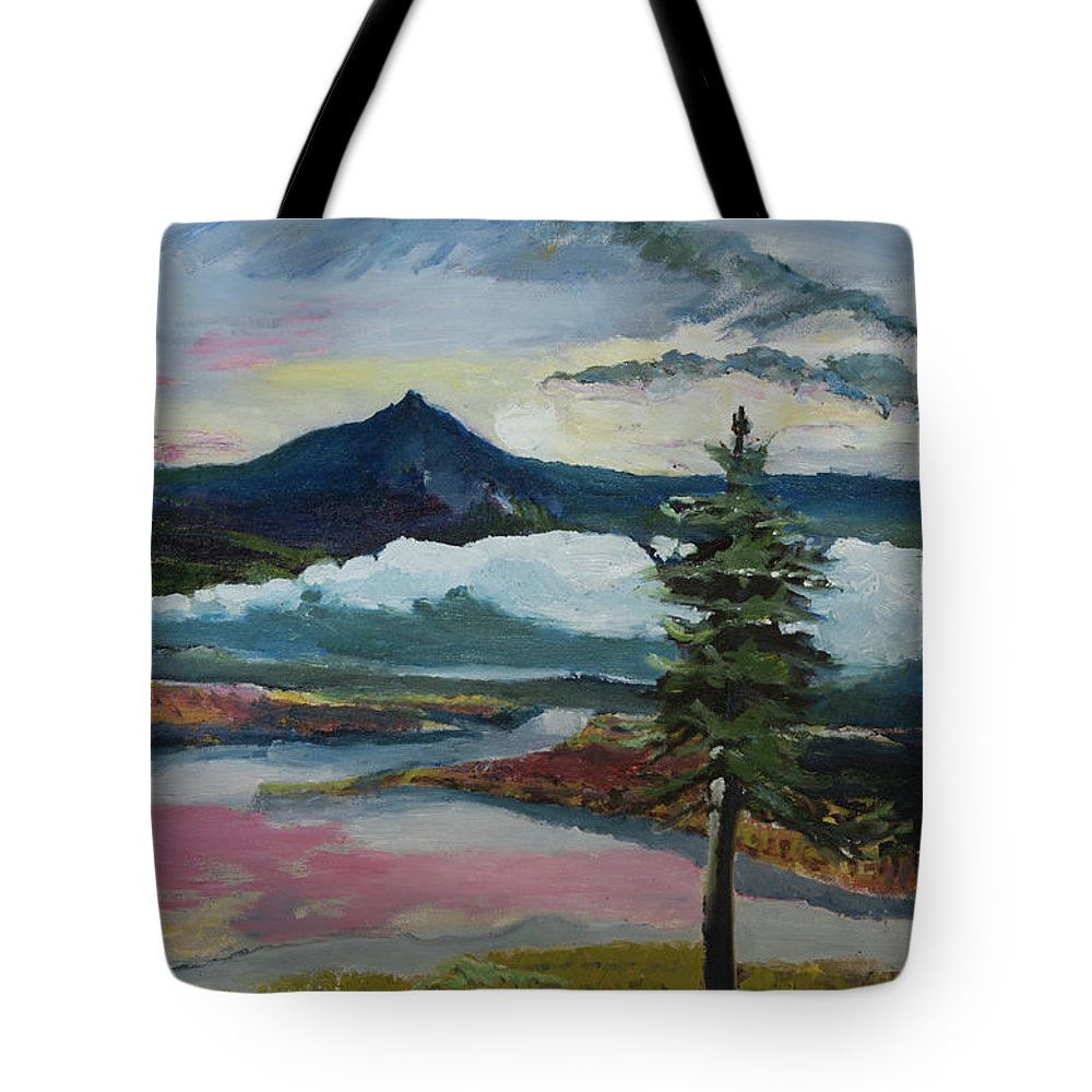 Mountain Tote Bag featuring the painting Mt Hood Winter Sunrise by Craig Newland