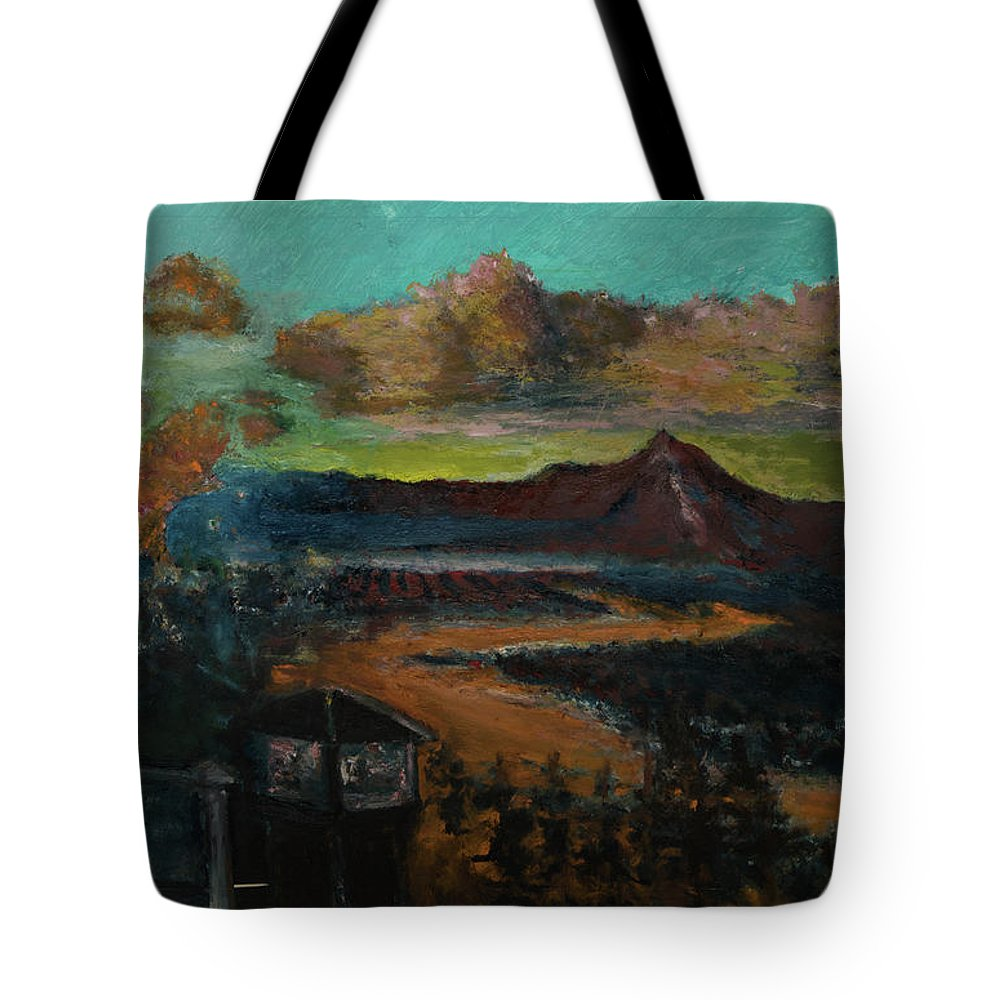 Mt Hood Tote Bag featuring the painting Mt Hood With Paper Mill by Craig Newland