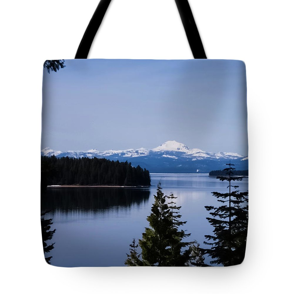 Snow Tote Bag featuring the digital art Mt Lassen 2 by Mellissa Ray