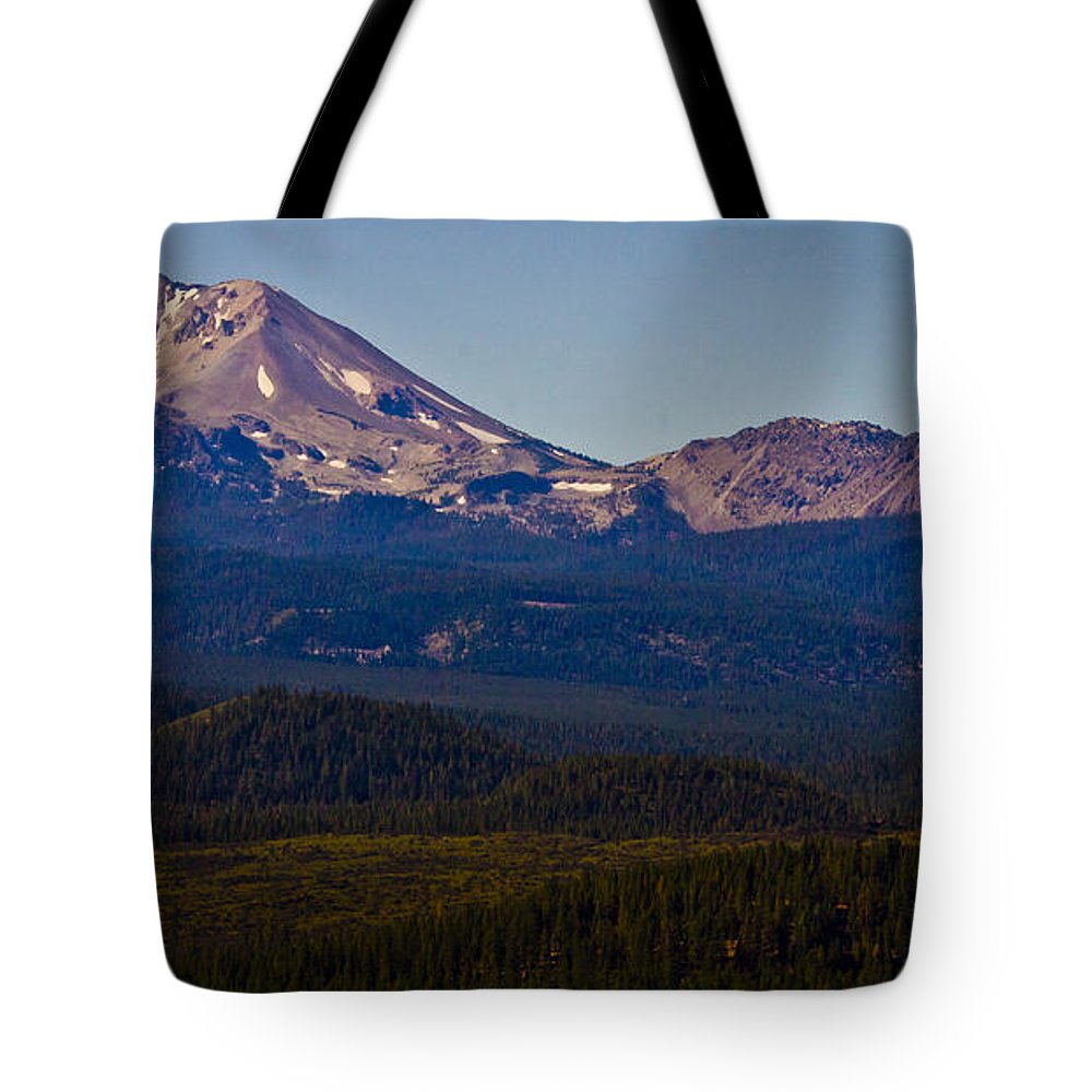 Mt Lassen Tote Bag featuring the photograph Mt Lassen And Chaos Crags by Albert Seger