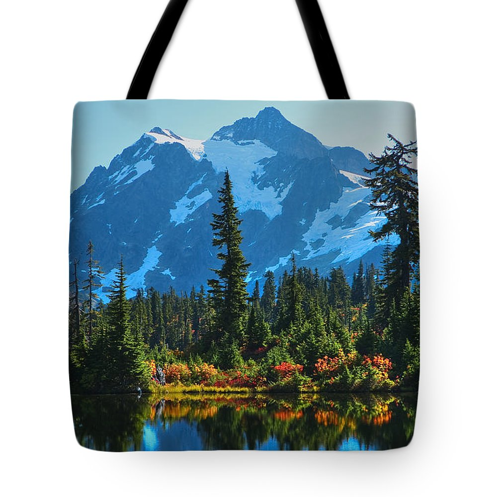 Mt. Shuksan Tote Bag featuring the photograph Mt. Shuksan by Idaho Scenic Images Linda Lantzy