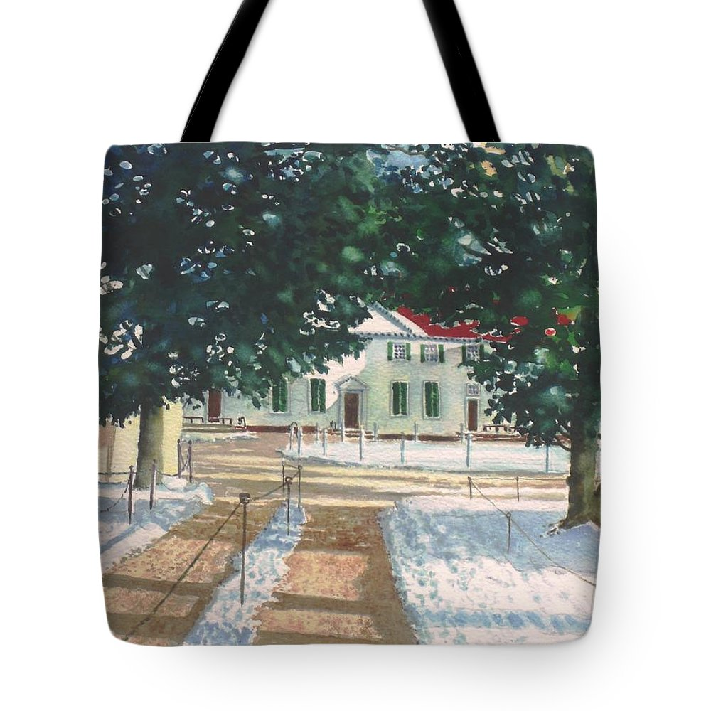 Landscape Tote Bag featuring the painting Mt. Vernon After The Visitors Have All Gone Home by Tom Harris