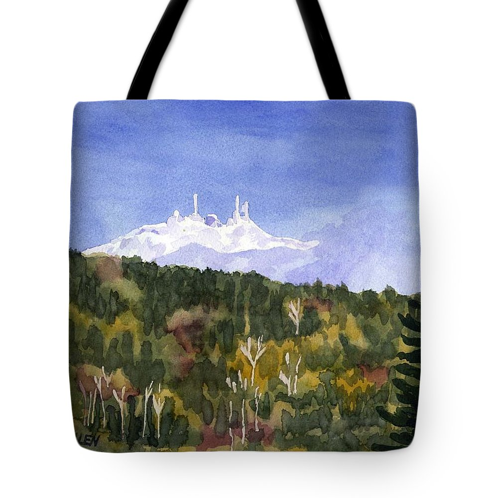 Landscape Tote Bag featuring the painting Almost Mystical by Sharon E Allen