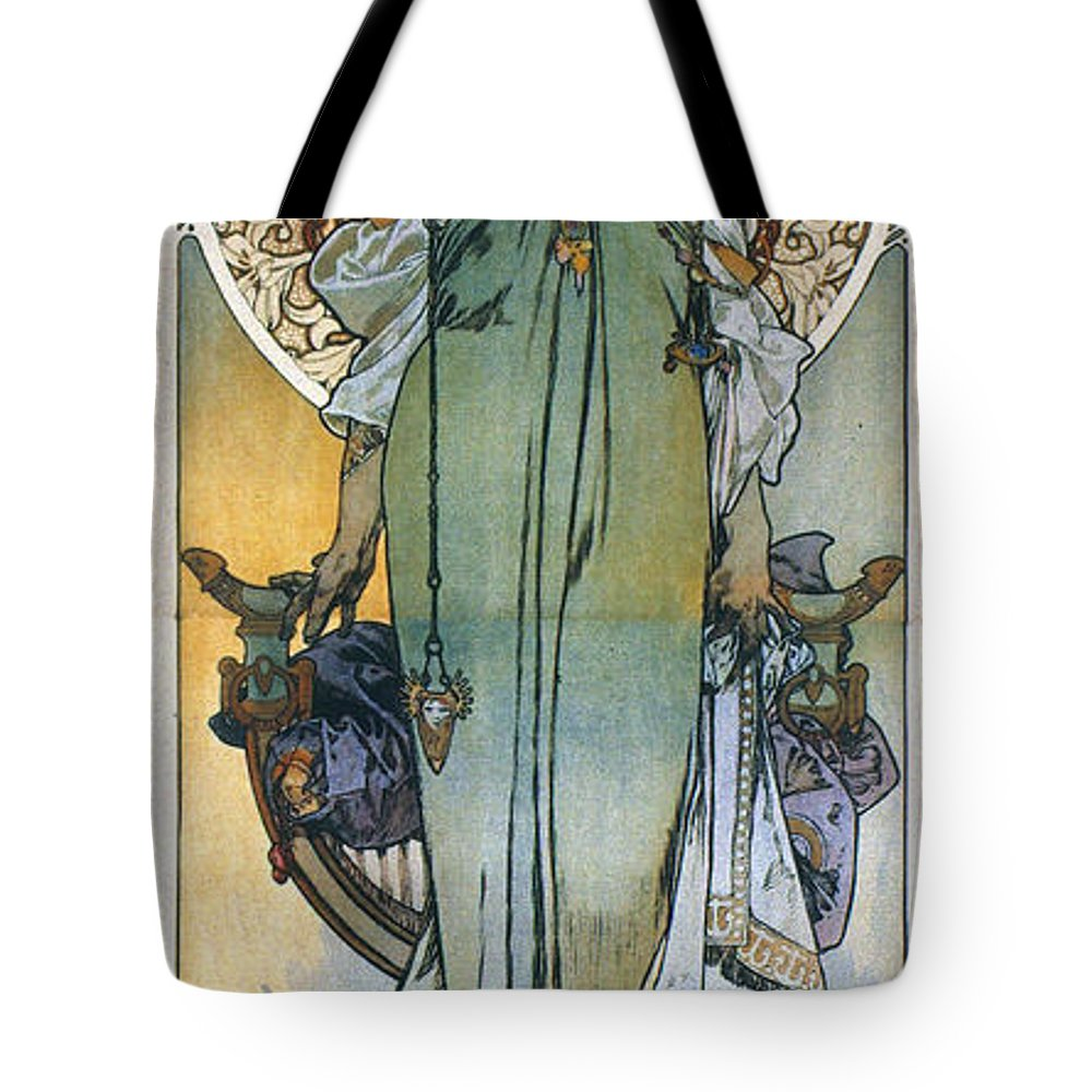 1909 Tote Bag featuring the photograph Mucha: Theatrical Poster by Granger
