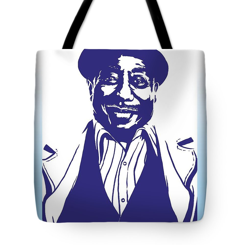 Muddy Tote Bag featuring the drawing Muddy Waters by Markus Neal Humby