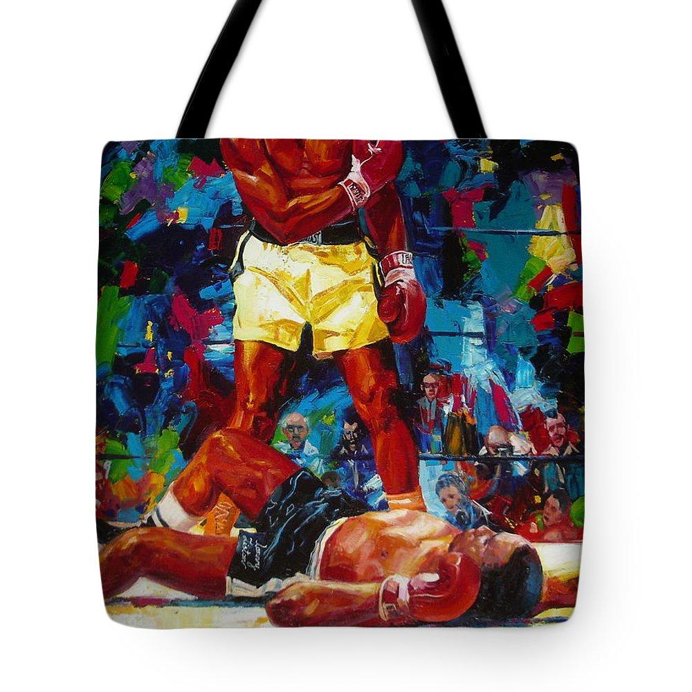 Ignatenko Tote Bag featuring the painting Muhammad Ali by Sergey Ignatenko