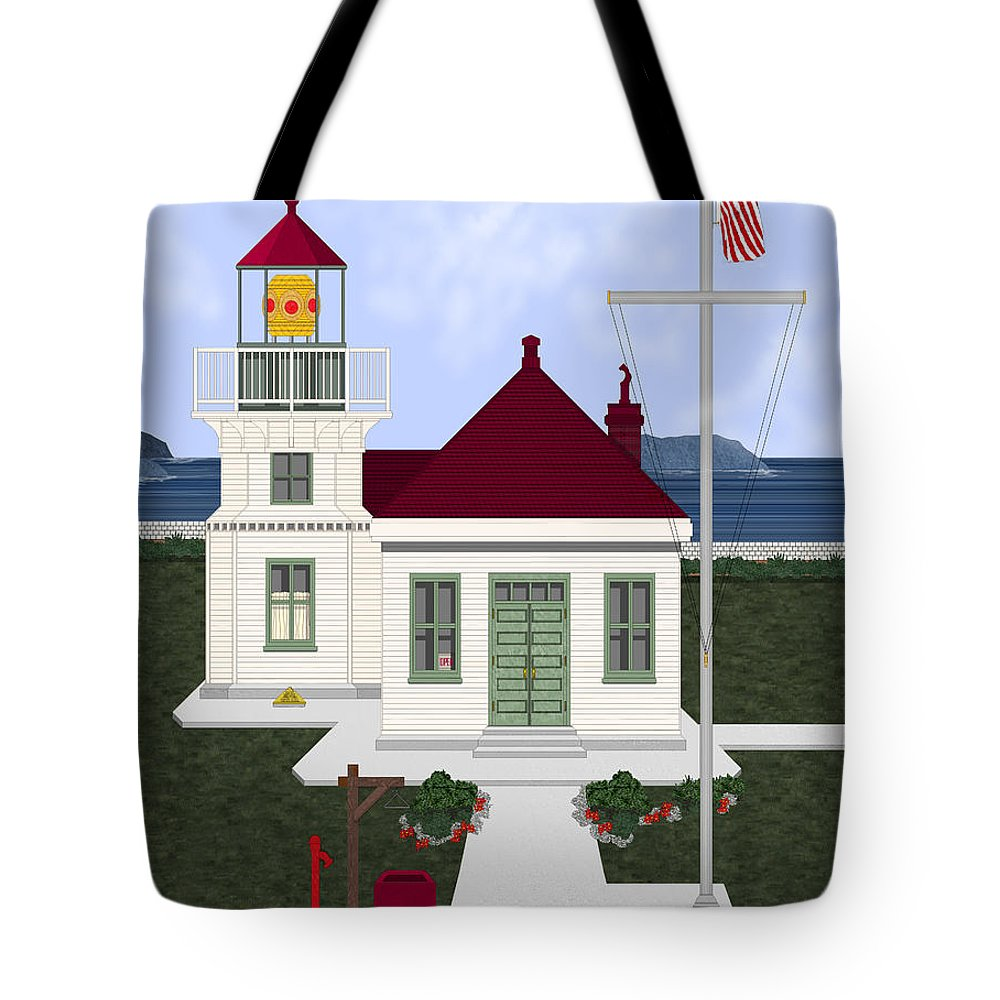 Lighthouse Tote Bag featuring the painting Mukilteo Light by Anne Norskog