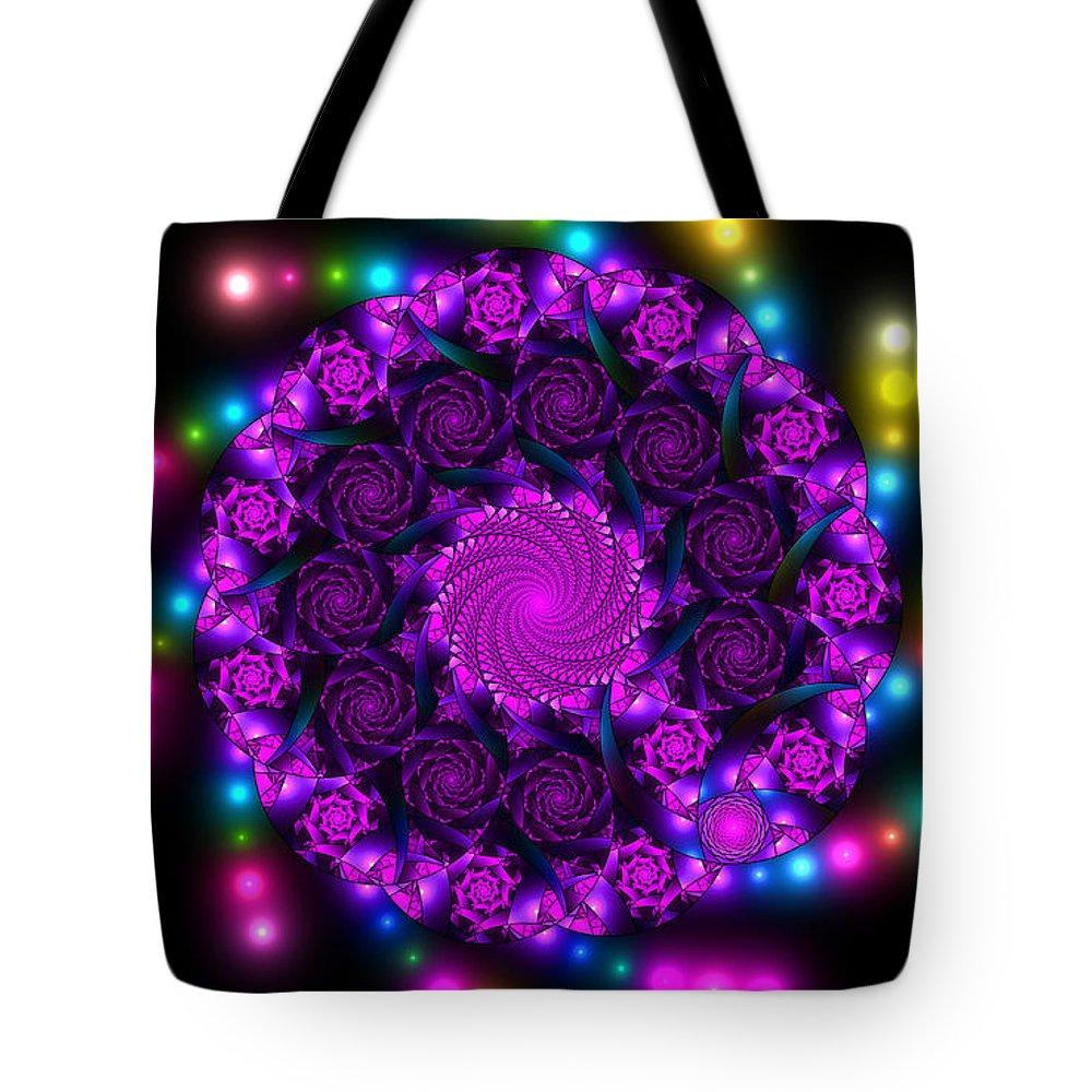 Elena Riim Tote Bag featuring the digital art Multicolored Mosaica by Elena Riim