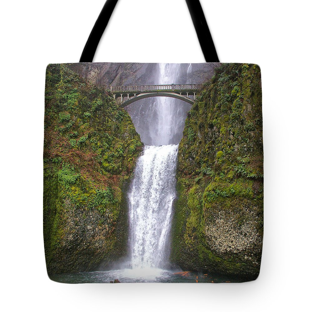 Clearwater Falls Tote Bag featuring the photograph Multnomah Falls 1 by Ingrid Smith-Johnsen