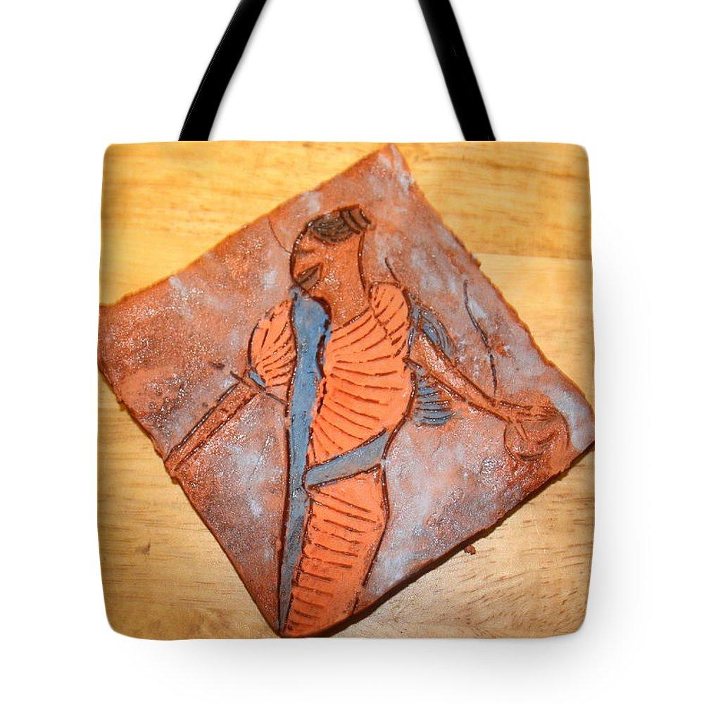 Jesus Tote Bag featuring the ceramic art Mum 4 - Tile by Gloria Ssali