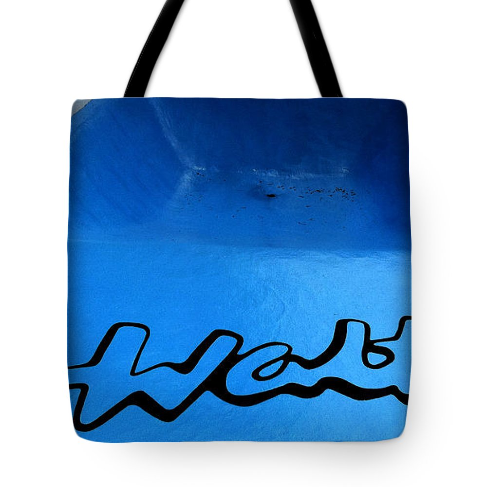 Mural Tote Bag featuring the painting Mural For Walts Pizza Marion Il by Rachel Christine Nowicki