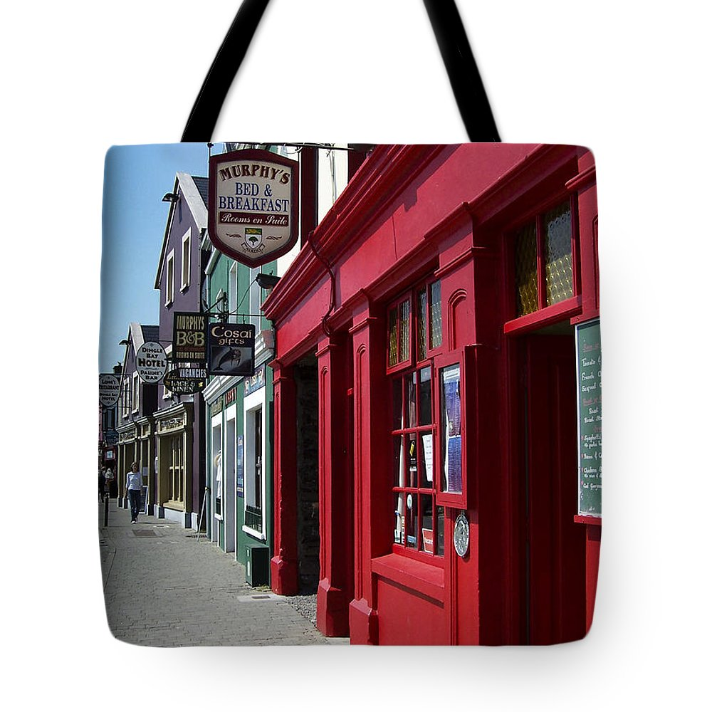 Irish Tote Bag featuring the photograph Murphys Bed And Breakfast Dingle Ireland by Teresa Mucha