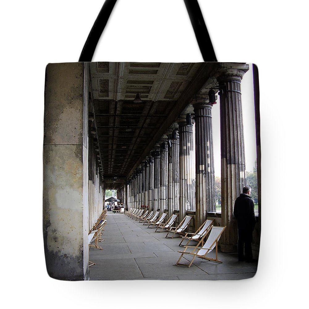 Museumsinsel Tote Bag featuring the photograph Museumsinsel by Flavia Westerwelle