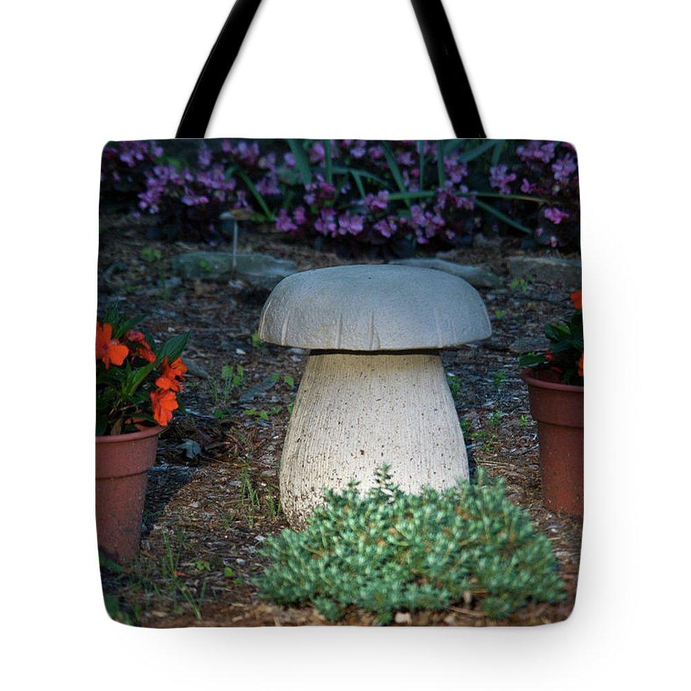 Mushroom Tote Bag featuring the photograph Mushroom Stool by Douglas Barnett