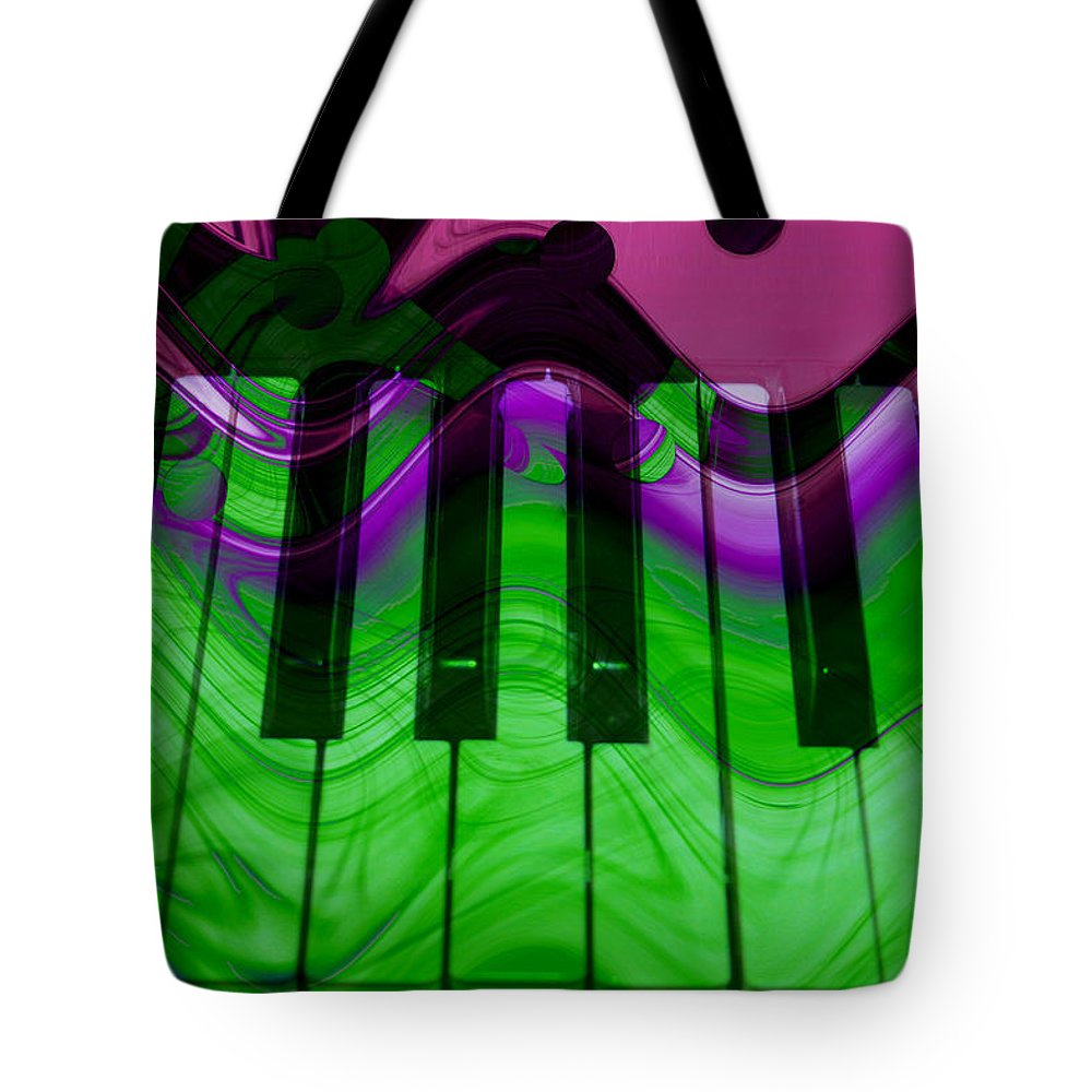 Music In Color Tote Bag featuring the photograph Music In Color by Linda Sannuti