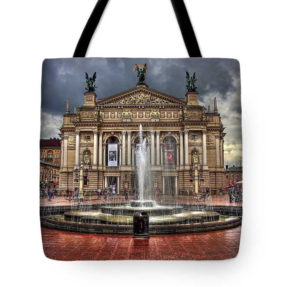 Architecture Tote Bag featuring the photograph Music Of My Heart by Evelina Kremsdorf