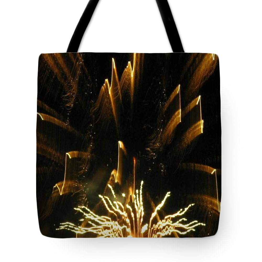 Fireworks Tote Bag featuring the photograph Music To My Eyes by Rhonda Barrett