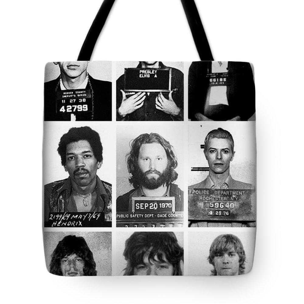 Rock N Roll Music Jimi Hendrix Tote Bags