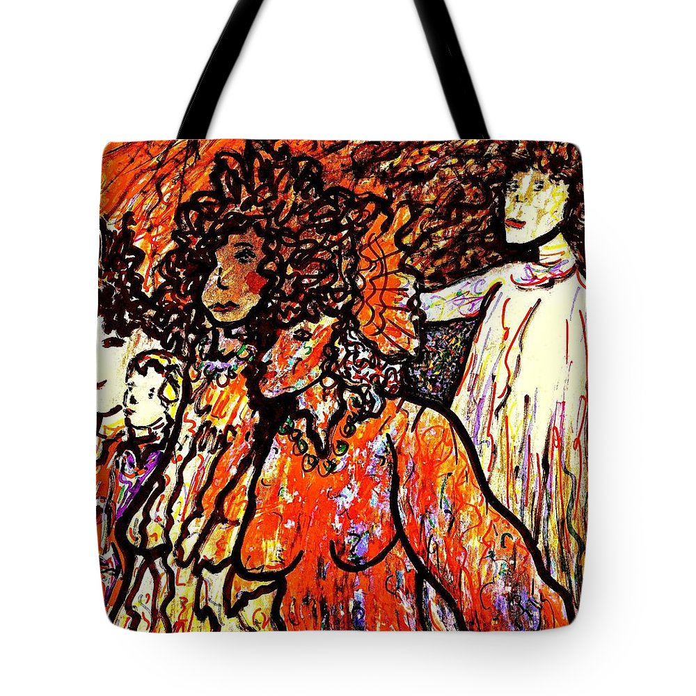 Figurative Art Tote Bag featuring the painting Musical Recital by Natalie Holland