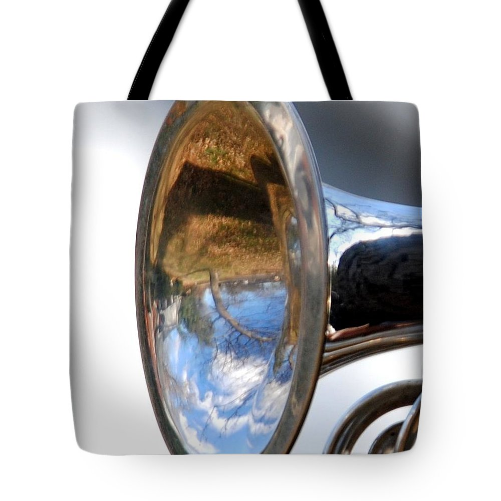 Music Tote Bag featuring the photograph Musical Reflection by Jai Johnson