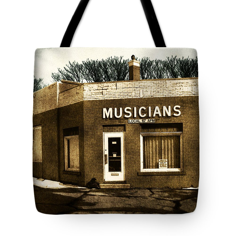 1950s Tote Bag featuring the photograph Musicians Local 67 by Tim Nyberg