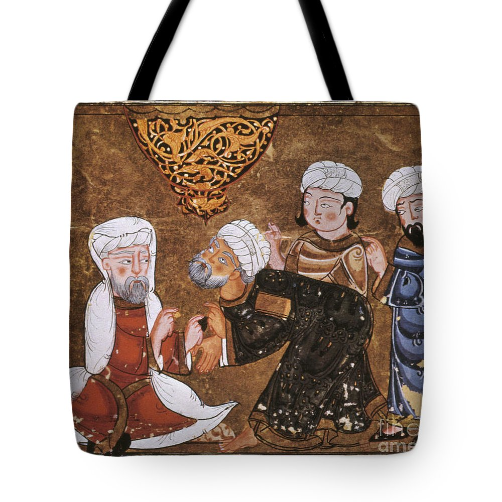 1334 Tote Bag featuring the photograph Muslim Court, 1334 A.d by Granger