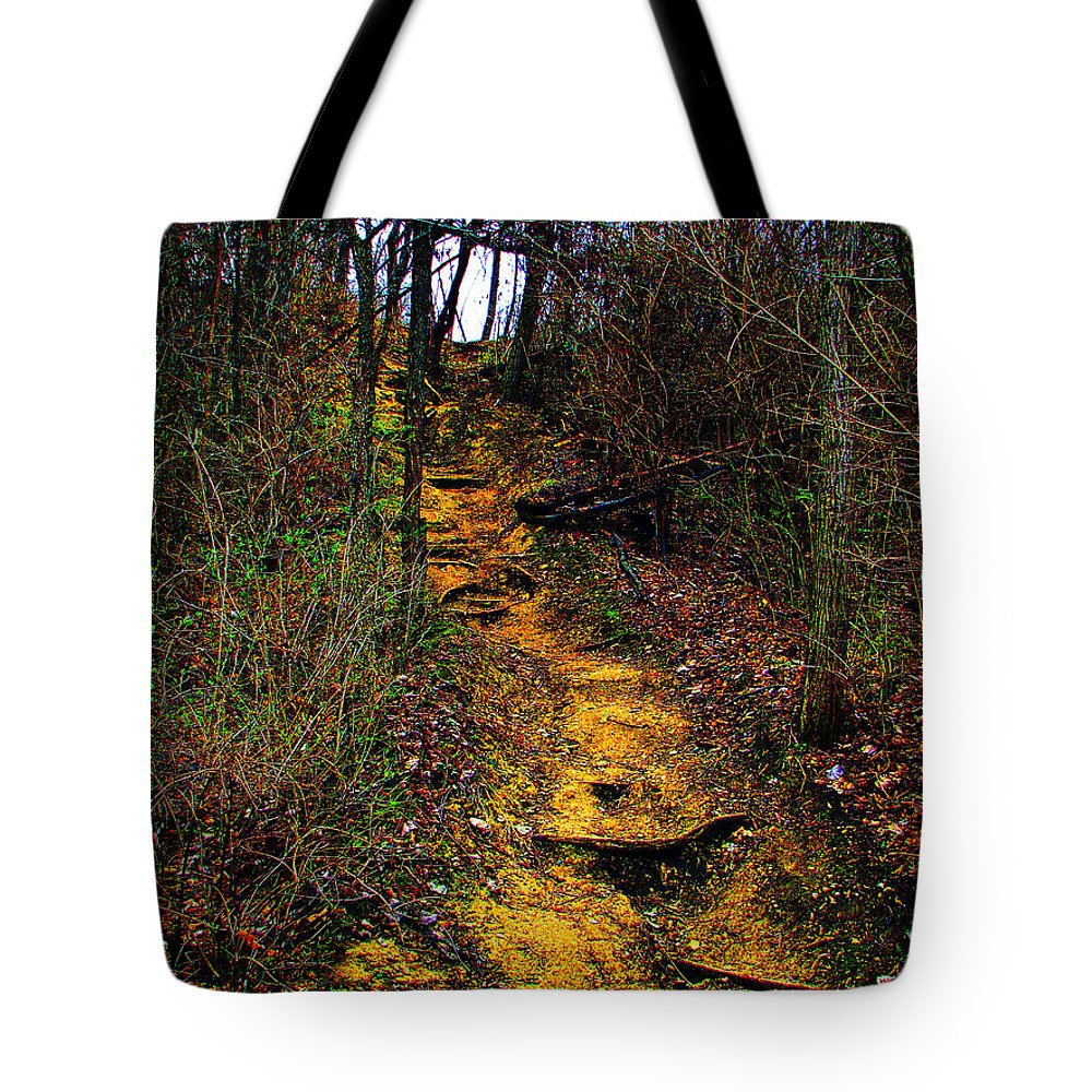 Hiking Tote Bag featuring the photograph Mustard Hill by Marie Jamieson